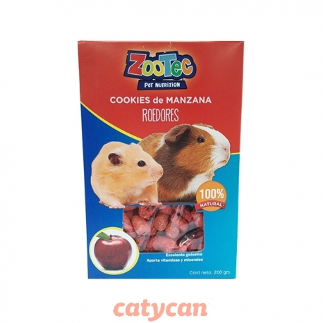 COOKIES ROEDORES MANZANA X 200 GRS -ZOOTEC-