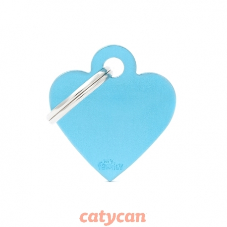 CHAPITAS IDENTIIFICATORIAS BASIC SMALL HEART ALUMINUM LIGHT