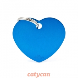 CHAPITAS IDENTIIFICATORIAS BASIC BIG HEART ALUMINUM BLUE