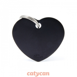 CHAPITAS IDENTIIFICATORIAS BASIC BIG HEART ALUMINUM BLACK