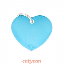 CHAPITAS IDENTIIFICATORIAS BASIC BIG HEART ALUMINUM LIGHT BL