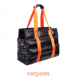 BOLSO MARSHMALLOW IBI FC 1506 BLACK-ORANGE