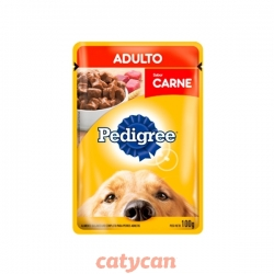POUCH PEDIGREE ADULTO SABOR CARNE X 100 GRS