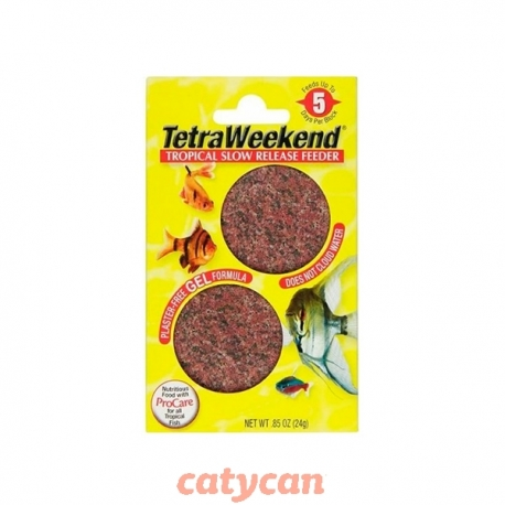 ALIMENTO PARA PECES TETRA WEEKEND 5 DIAS- PACK 2 UNI-