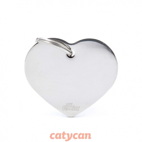 CHAPITAS IDENTIIFICATORIAS BASIC CHROME BIG HEART BRASS