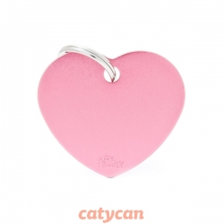 CHAPITA IDENTIIFICATORIA BASIC BIG HEART ALUMINUM PINK