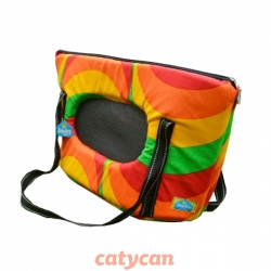 BOLSO PLAYERO TRANSPORTADOR MASCOTA N°2 C/RED LATERAL