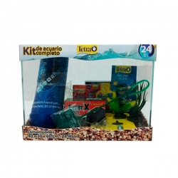 OUTLET KIT ACUARIO PECERA 24 LTS COMPLETO