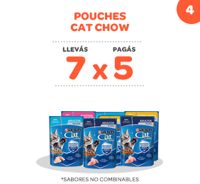7x5 en pouches Cat Chow